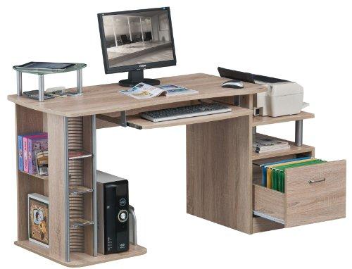 Scrivania Ufficio Piccola : Sixbros scrivania ufficio porta pc quercia effetto legno s a