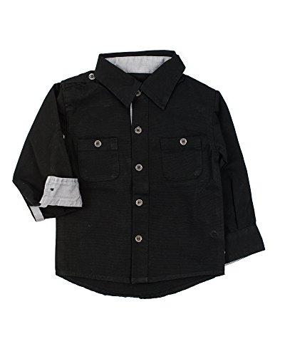 3t black long sleeve dress shirt - 3