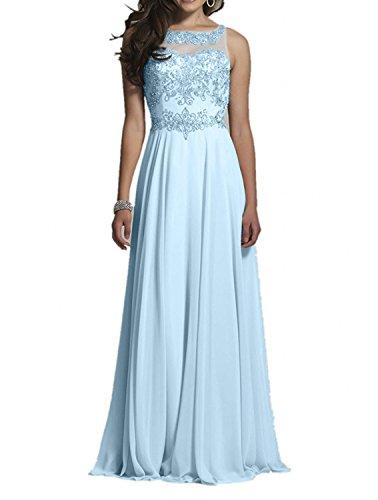 Hell Rosa Damen Abendkleider Linie Brautmutterkleider Spitze Festlichkleider Blau A Lang Charmant Ballkleider Z1vwT4wq
