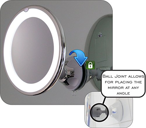 10x Magnifying Lighted Makeup Mirror With Chrome Finish