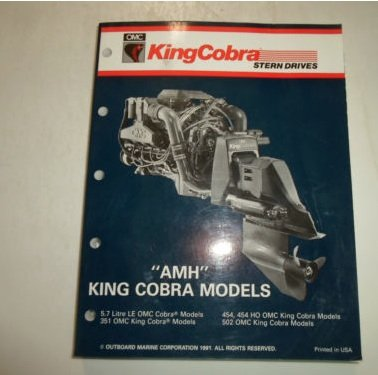 1992 OMC King Cobra Stern Drives AMH 5.7 LE 351 454 HO 502 Service Repair -