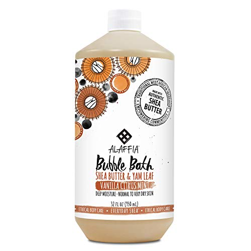- Alaffia - Everyday Shea Bubble Bath, For All Skin Types, Soothing Support for Deep Relaxation and Soft Moisturized Skin with Shea Butter and Yam Leaf, Fair Trade, Vanilla Citrus Mint, 32 Ounces (FFP)