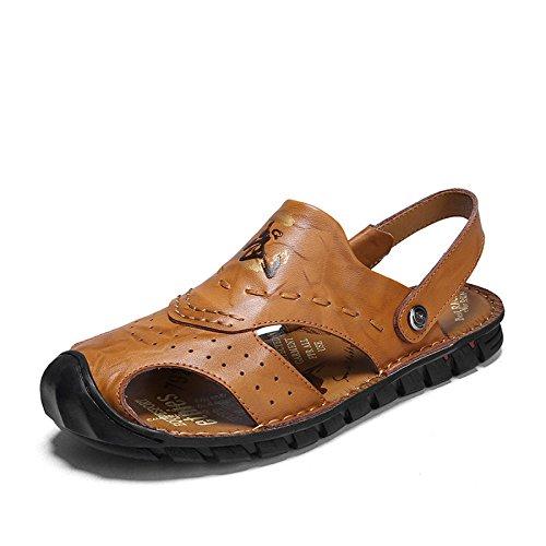 Scarpe Uomo Sandals Shoes Uomo Baotou Casual Yellow da Crash Outdoor Sandali LEDLFIE da Casual wWqfRySqZ