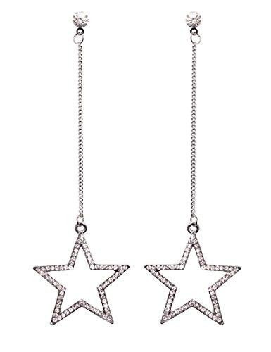 Chandelier Laurel Gold Crystal (MISASHA Elegant Rhinestone Star Dangle Earrings)
