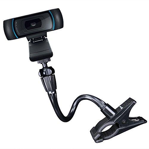 Smatree Flexible Jaws Clamp Clip Mount Holder for Logitech Webcam C925e C922x C922 C930e C930 C920 C615