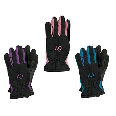 Ovation Childs Polar Suede Fleece Gloves,Pink/black, Large