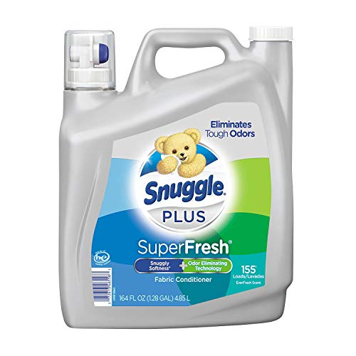 Snuggle Plus Super Fresh Fabric Softener Liquid with Odor Eliminating Technology, 95 Fluid Ounce by Snuggle