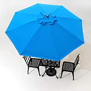 8 Foot - 8 Rib Anti-fade and Water-proof Replacement Canopy in Blue