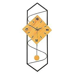 Modern Pendulum Wall Clock Non Ticking Silent Kitchen Quartz Hanging Clock Watch for Home/Office/School Durable (Color : Black, Size : 3070cm)