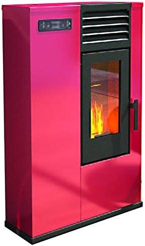 rouge Eva Stampaggi 98017-10 Pellet Susy Slim Po/êle /à granul/és 7,5/kW
