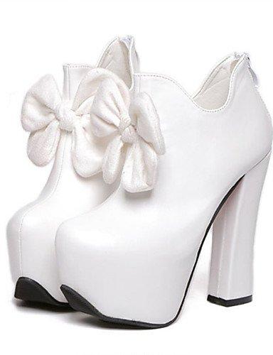 Tacón mujer us8 Zapatos Negro cn39 white black white PU us8 y cn39 Robusto eu39 cn39 us8 Fiesta uk6 Noche eu39 GGX Botas Vestido uk6 de Tacones uk6 eu39 Blanco dwtERRq