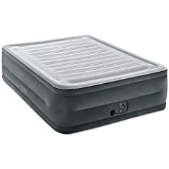 Approximate inflation time 4 3/4 minutes. The sleeping surface is covered in soft flocking for extra comfort, and the indented sides keep your Fitted sheets from slipping.. the convenient hand carry bag is perfect for storage and transport. W...