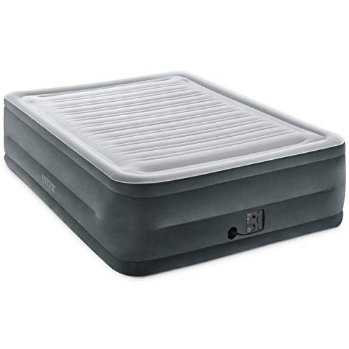 Intex Comfort Plush Elevated Dura-Beam Airbed with Internal Electric Pump, Bed Height 22