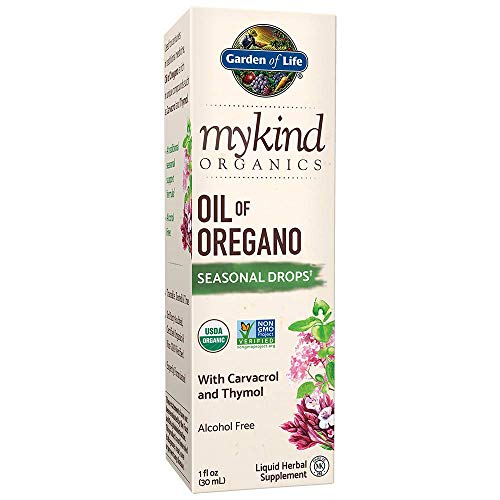 Garden of Life Mykind Organics Oil Of Oregano Seasonal Drops 1 Fl Oz (30 Ml) Liquid, Concentrated Plant Based Immune Support Herbal Supplements