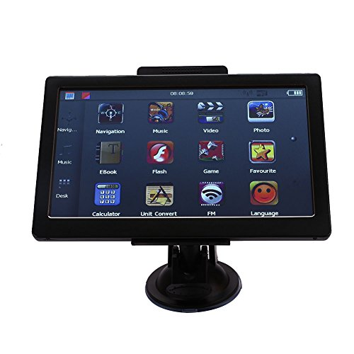 Car GPS Navigation System,7 Inch 8GB Touch Screen Car GPS Navigation with European Map