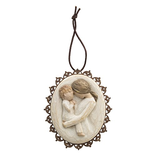 Willow Tree hand-painted sculpted Metal-edged Ornament, Tenderness (26214)