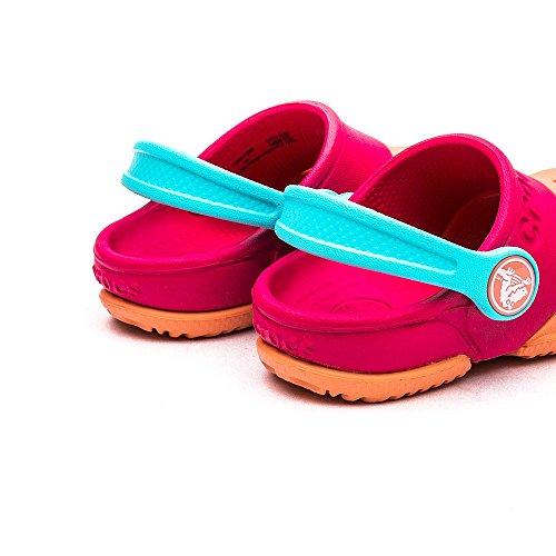 Crocs Electro II Clog K - Zuecos Unisex Rosa (Melon/Poppy)