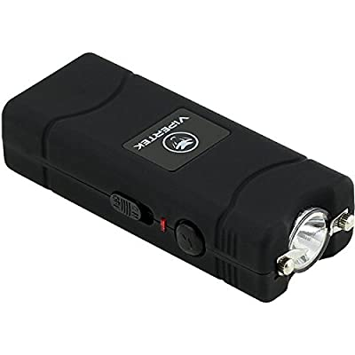 VIPERTEK VTS-881 - 7 Billion Micro Stun Gun - Rechargeable with LED Flashlight, Black