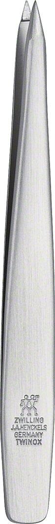 ZWILLING TWINOX spitze Pinzette Augenbrauen Haarentfernung rostfreier Edelstahl mattiert 90 mm 78147-101-0