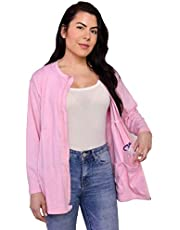 Inspired Comforts Mastectomy Recovery Shirt with Drain Pockets and Fasteners to Hold Drainage Tubes