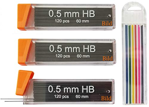0.5 mm Premium Mechanical Pencil Lead Refills 360 pieces of 0.5mm lead refill (Automatic Lead Pencil)
