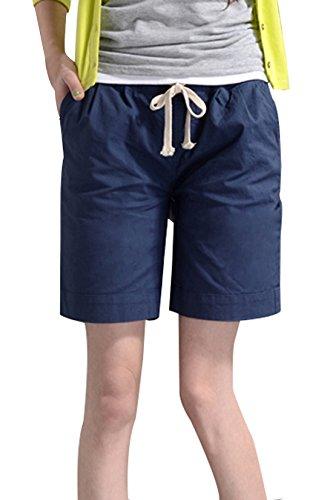 Shorts Pantaloncini Coulisse Blu con Beachwear Estivo Baggy Donne P64tqU