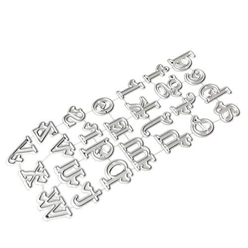 Cicitop Cutting Dies Alphabet Letter Metal Cutting Dies Stencil DIY Scrapbooking Album Stamp Paper Card Embossing Crafts Decor