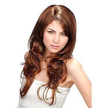 GSP-sin tapa extra larga sintética de oro peluca castaña pelo rizado (jf1090): Amazon.es: Deportes y aire libre