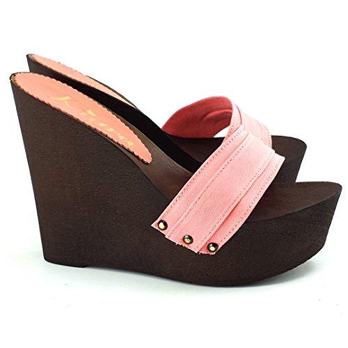 Rosa Vari Donna Shoes kz3101 Colori Zeppa Zoccoli Kiara 7qv0I7
