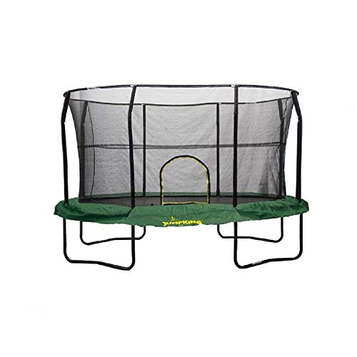 JumpKing Oval Trampoline with Solid Green Graphic Pad, 8' x 12'