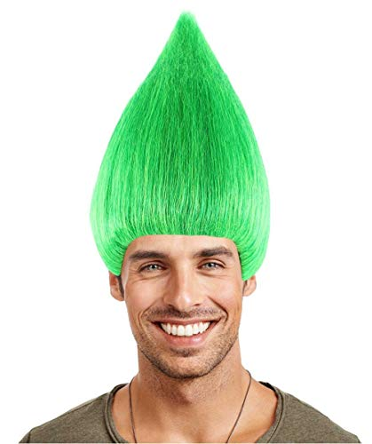 Troll Style Wig Elf Pixie Gnome Color Green (Adults) HM-089/HW-1364 -