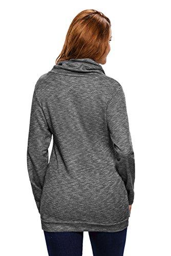 Helana's Secret - Camiseta de manga larga - para mujer negro