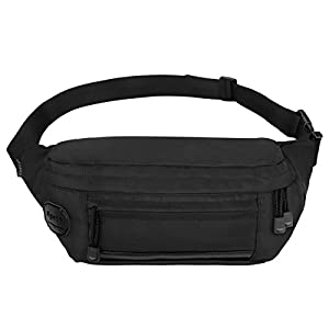 Ryaco [Big Pocket] R907 Waist Pack, Outdoor Sports Waist Bag, Bum bag, Running belt, Exercise Runner Belt, Fitness Workout Belt, Race Belt, Fanny Pack, Workout Pouch for Hiking, Climbing