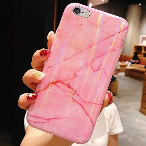 Herbests Kompatibel mit iPhone 8 / iPhone 7 4.7 Hülle Marmor Weich Silikon Handyhülle Bling Glitzer Sparkle Glänzend Bunt Schutzhülle Crystal Ultradünn TPU Bumper Tasche Case,Rosa