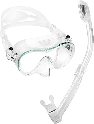 Mask Clear Scuba Dive - Cressi F1 & Supernova Dry, Clear/Clear