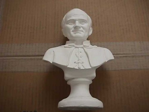 Plastercraft Kits - Plastercraft unpainted use acrylic paint Pope John Paul II bust 9.5