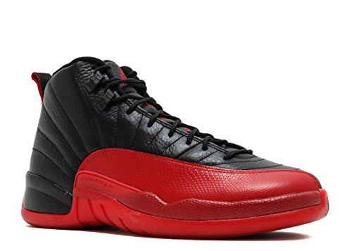 Nike Air Jordan 12 Retro Griep Spel Zwart / Varsity Rood Trainer Zwart, Varsity Rood