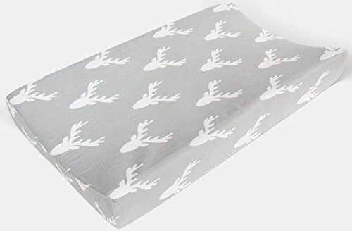 Changing Pad Cover in Gray Deer by Twig + Bird - Handmade in America
