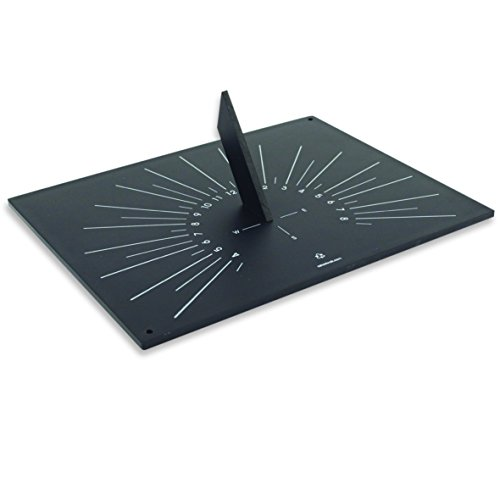 Bosmere W430 Eco Horizontal Sundial Made from Recycled Materials, Black by Bosmere