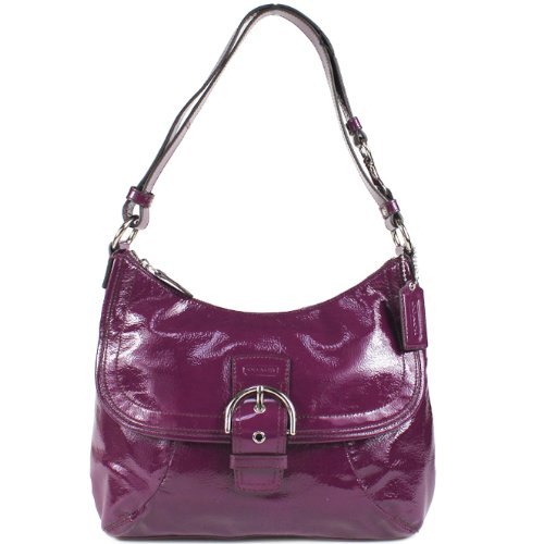 COACH Soho Patent Flap Duffle Handbag 19709, Bags Central