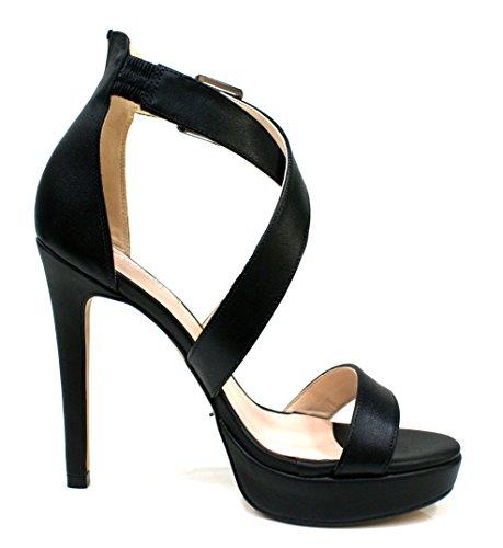 Gaudi Sandalia Mujer Ary Tacòn Cm 12 Leather Black Black