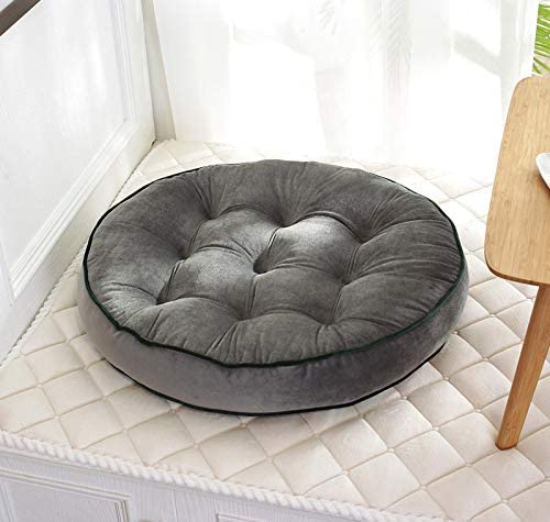 Mauwey Round Cushion Floor Pillow Chair Seat Cushions Big 3D Biscuit Pillows Meditation Garden Balcony Decoration Gray