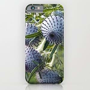 Society6 - Blue Thistle Heads - Botanical Garden - Berlin iPhone 6 Case by CAPTAINSILVA