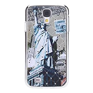 hao Statue of Liberty Pattern Hard Case with Rhinestone for Samsung Galaxy S4 I9500