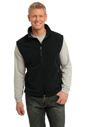 Mens Full Zipper Vest - Port Authority Men's Value Fleece Vest XXL Black