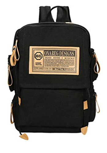 MYLL Unisex Backpack College Gran Capacidad Para Hombres Y Mujeres Mochila,Blue Black