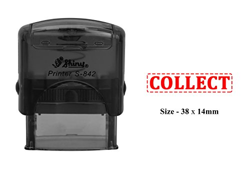 Collect Plastic Stamp Clear Print For Office Use Shiny S 842 Self Inking Stamp