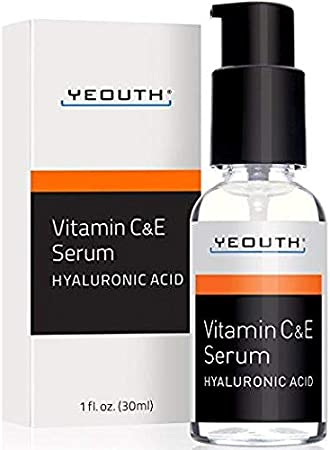 YeOUTH Vitamin C Serum For Day with Vitamin e and Hyaluronic Acid Serum, Anti Wrinkle, Fill Fine Lines, evens Skin Tone, Fades Age Spots, Medical