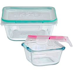 Snapware 4-Piece Total Solution Food Storage Set, Glass