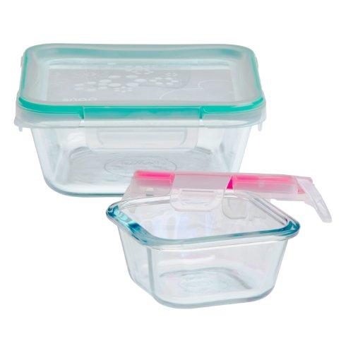 Snapware 4-Piece Total Solution Food Storage Set, Glass - 4 Piece Storage